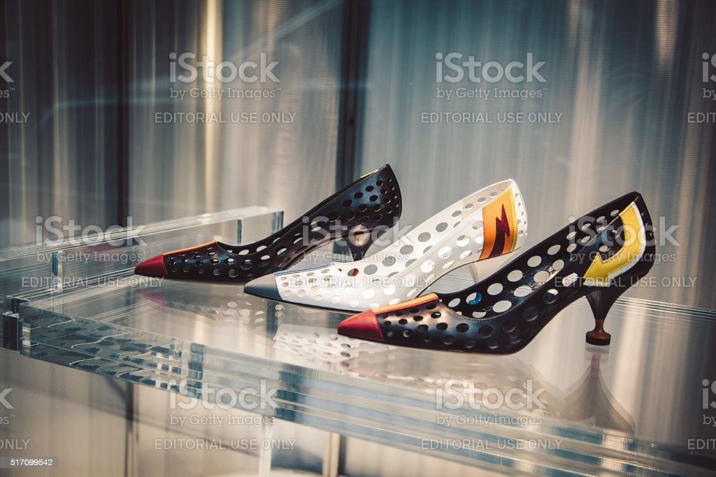 Prada shoes stock photo