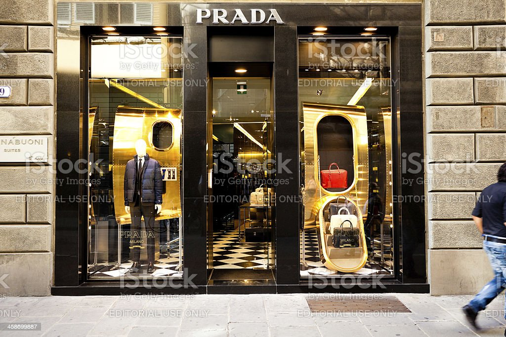 Prada Store in Florence, Italy royalty-free stock photo