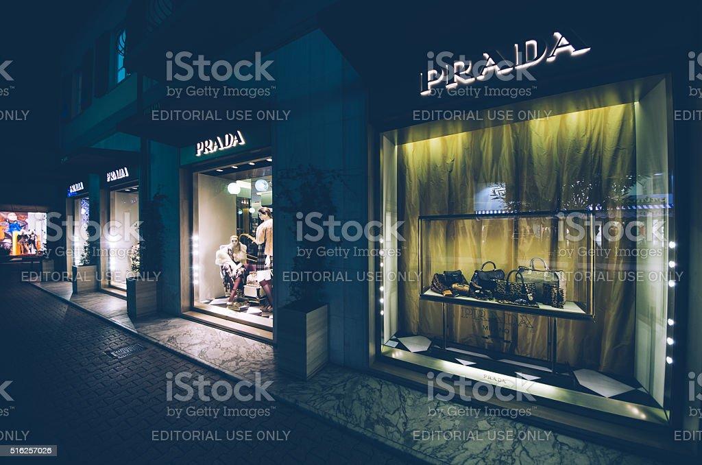Prada Store stock photo