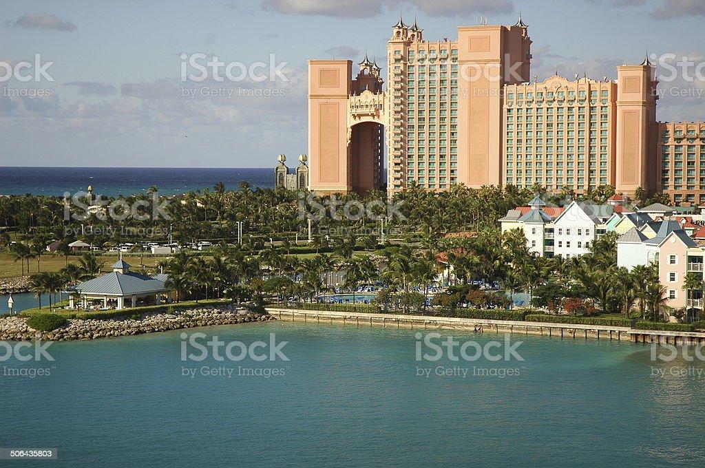 pradise island-atlantis-bahamas stock photo