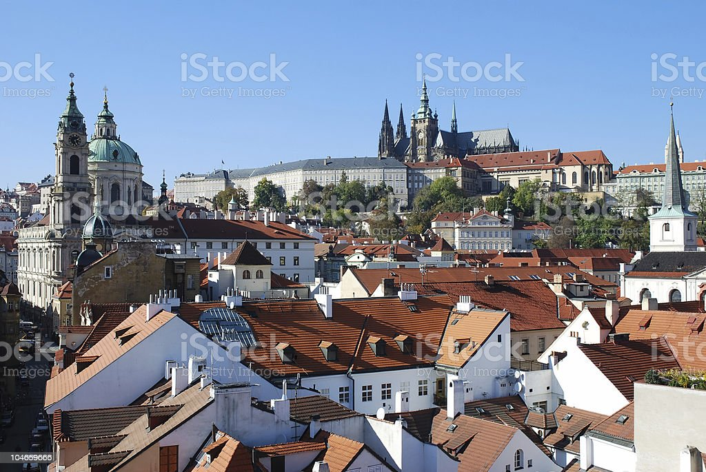 Praga church royalty-free stock photo