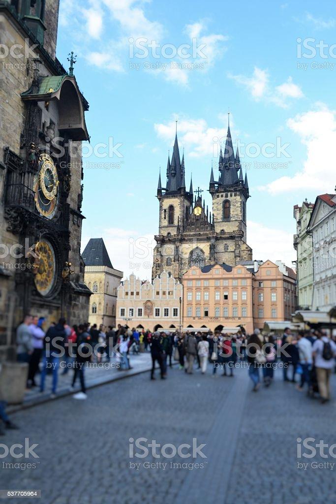 Praga city stock photo