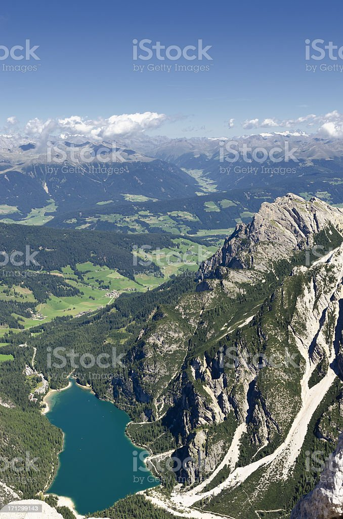 Pragser Wildsee - Lago di Braies stock photo