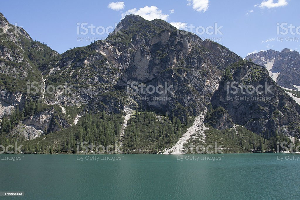 Pragser Wildsee stock photo