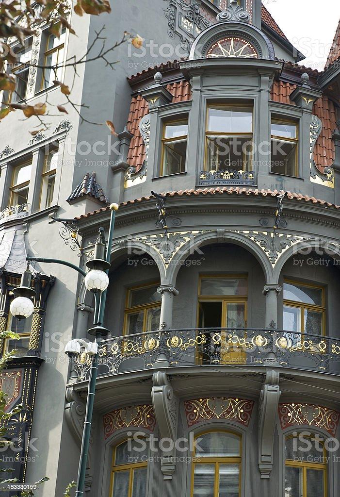 Prague Art Nouveau Architecture royalty-free stock photo
