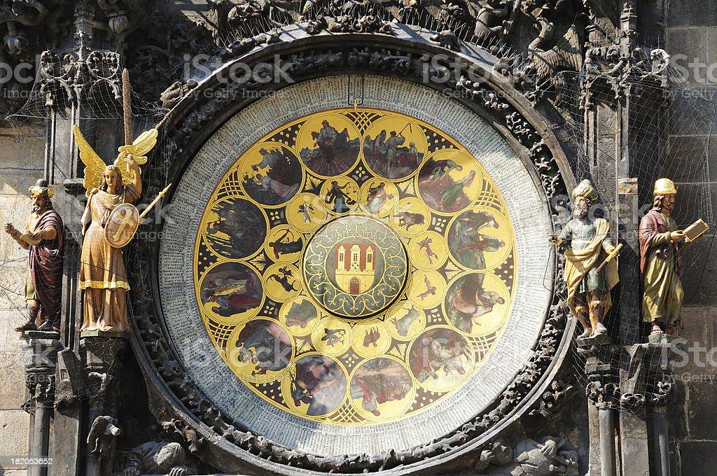 Prague Astronomical Calendar Czech royalty-free stock photo