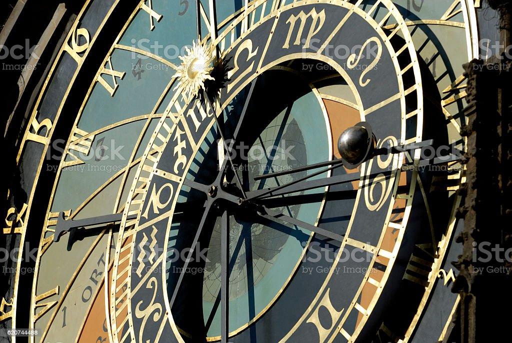 Prague Astronomical Clock (Orloj), Czech Republic, Prague stock photo