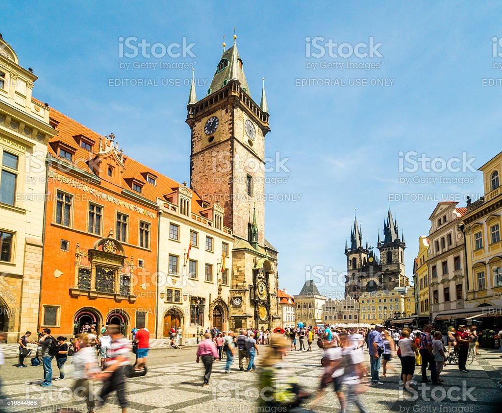 Prague Astronomical Clock in Prague, Czech Republic stock photo