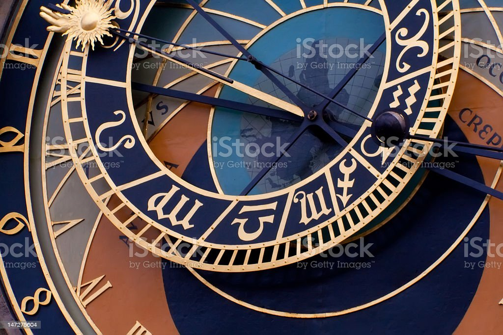 Prague. Astronomical clock royalty-free stock photo