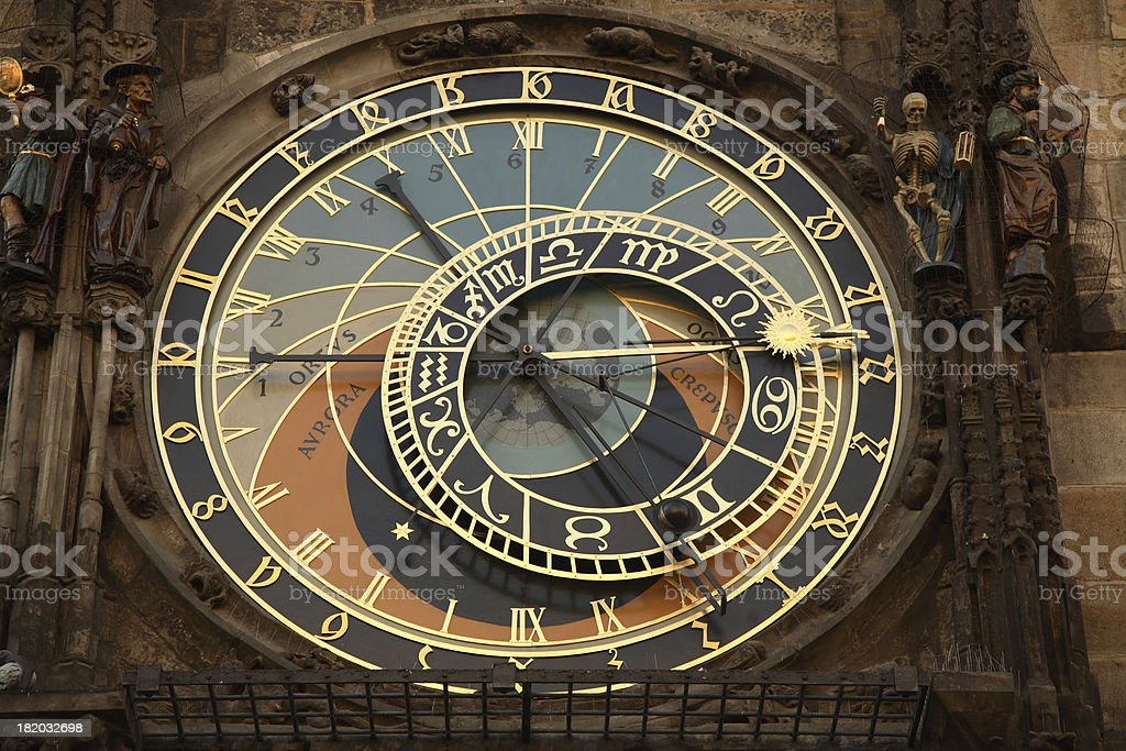 Prague: Astronomical Clock royalty-free stock photo
