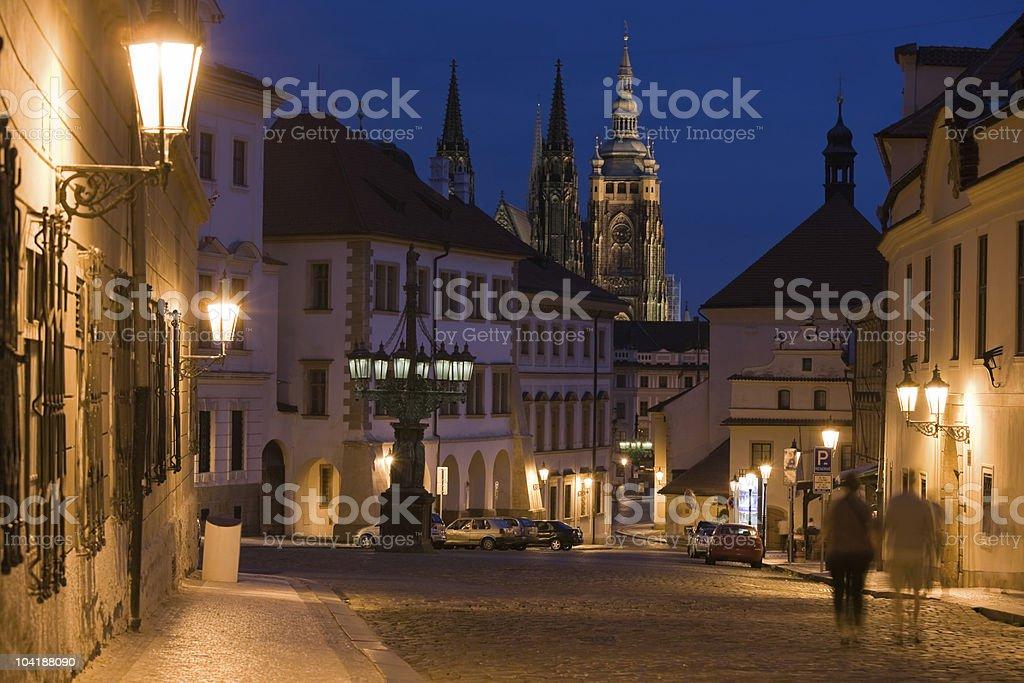 Prague at night royalty-free stock photo