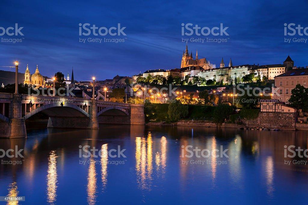 Prague at night. royalty-free stock photo