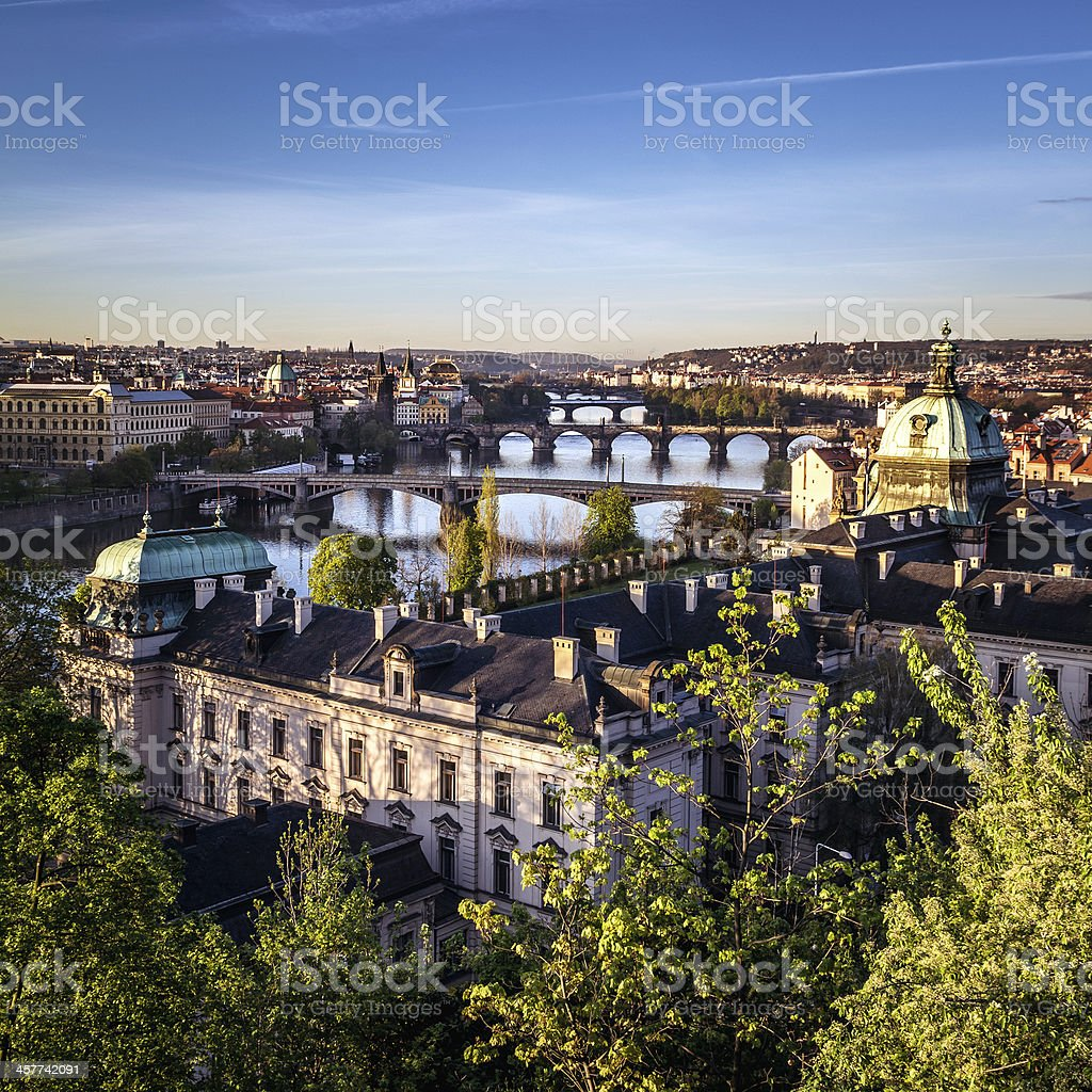 Prague at sunrise royalty-free stock photo