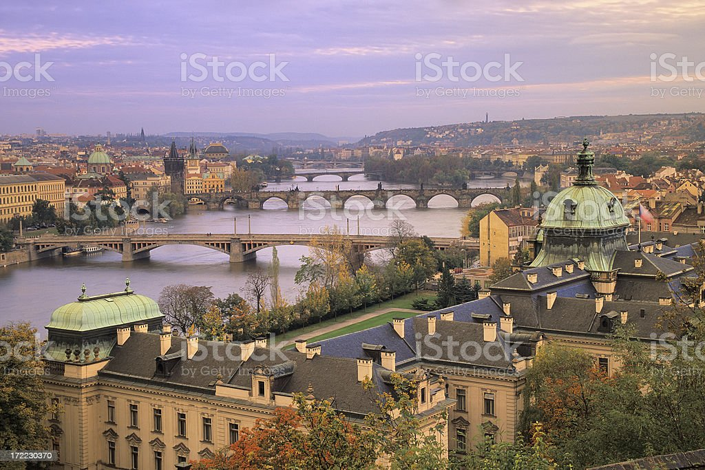 Prague at twilight royalty-free stock photo