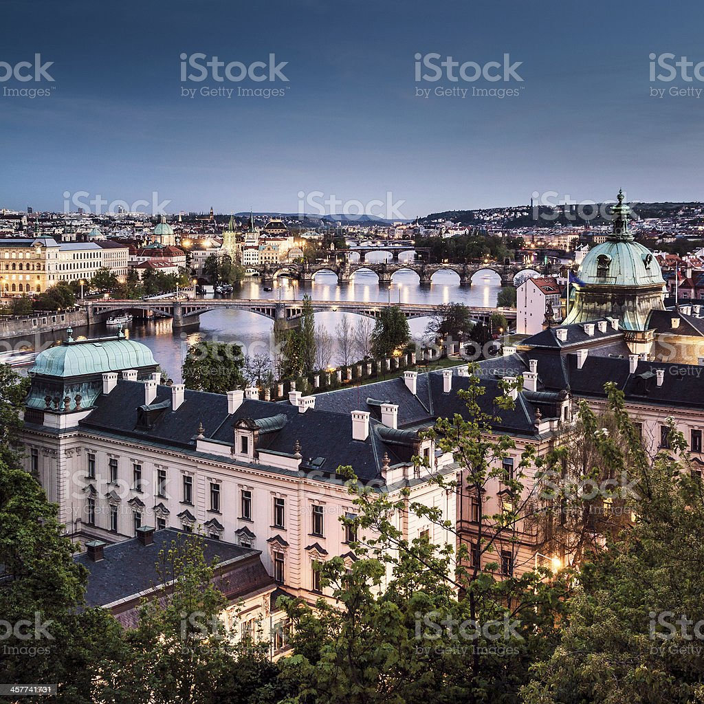 Prague at twilight royalty-free stock photo