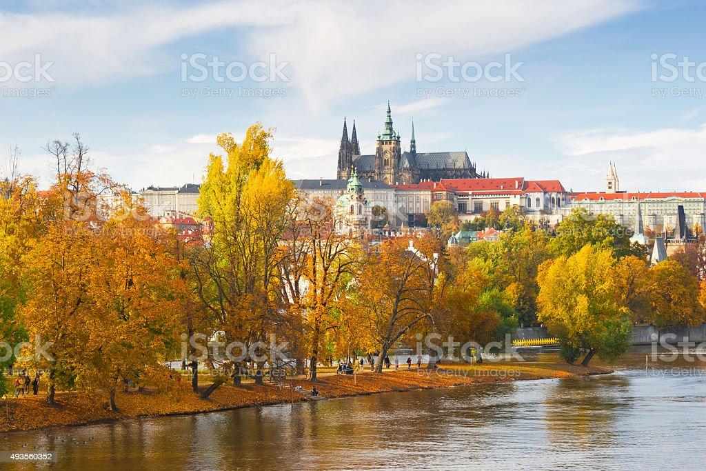 Prague autumn stock photo