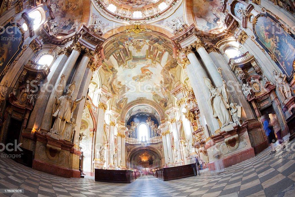 Prague baroque church stock photo