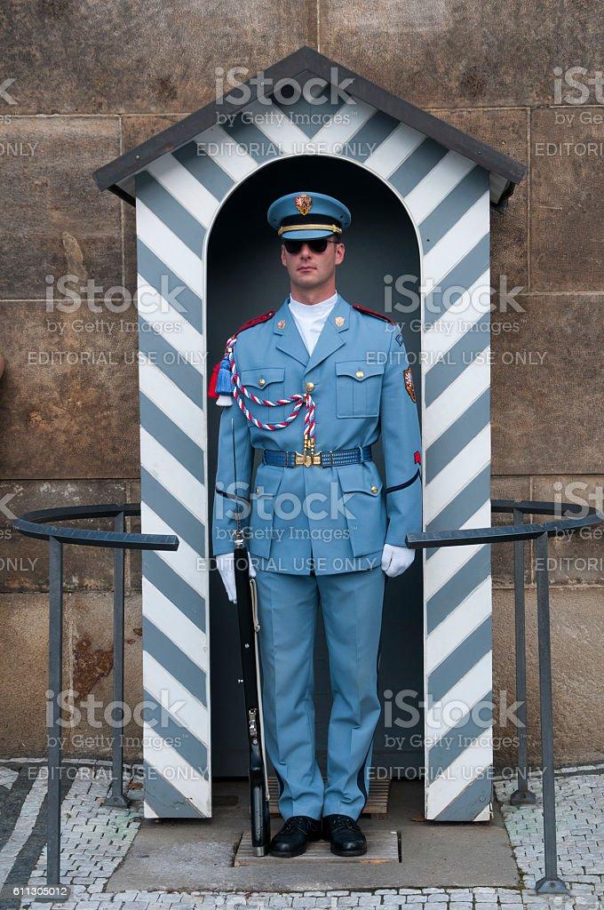 Prague Castle Guard, Czech Republic stock photo