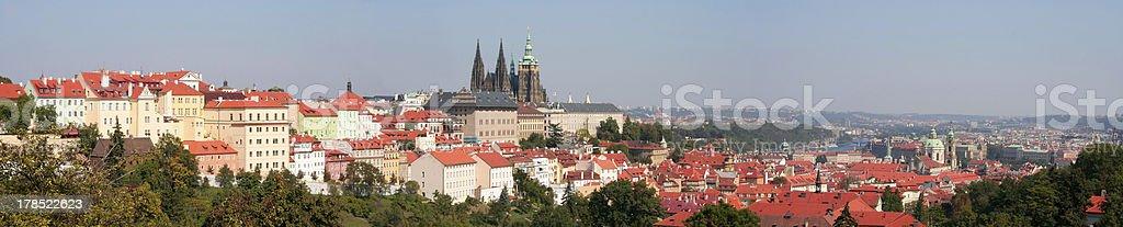 Prague castle panorama royalty-free stock photo
