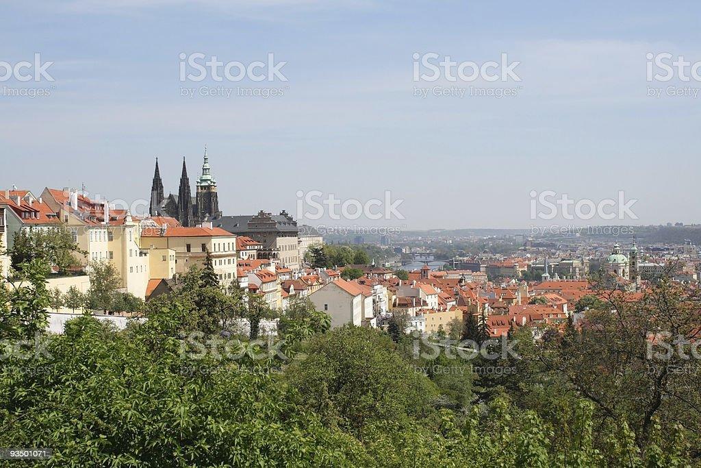Prague Castle - springtime royalty-free stock photo