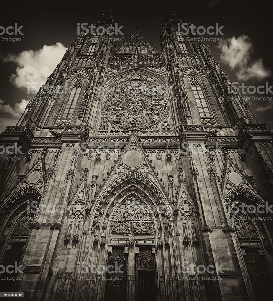 Prague cathedral stock photo