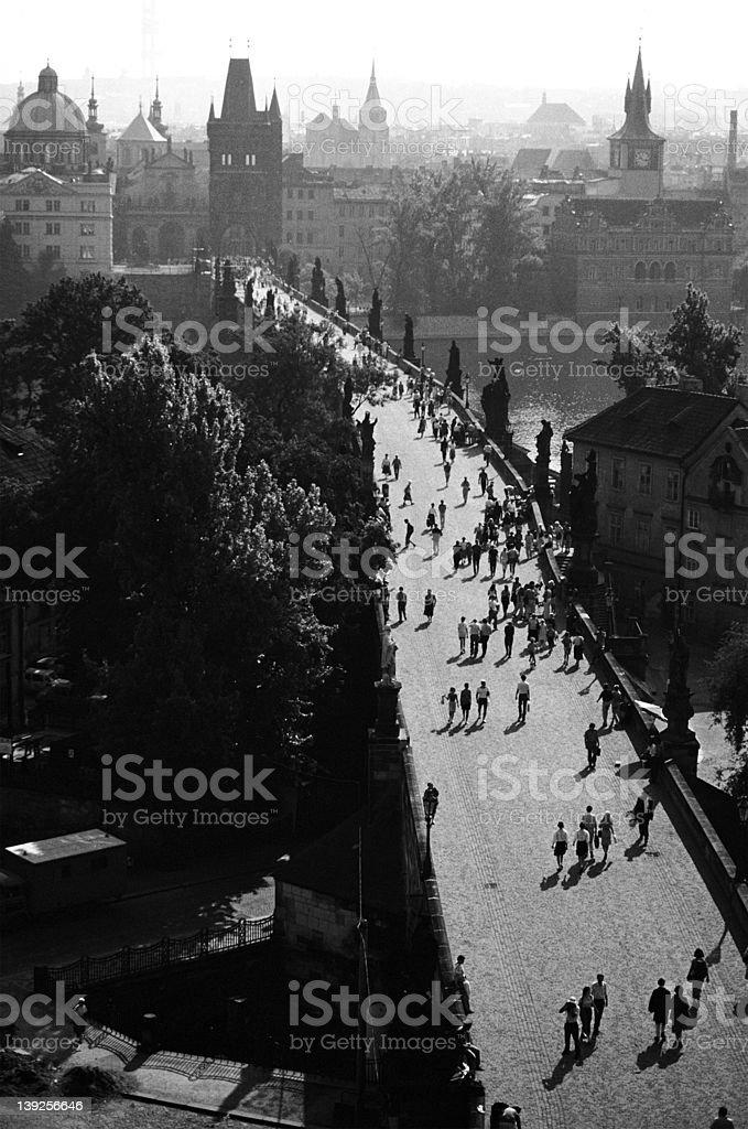 Prague Charles bridge royalty-free stock photo