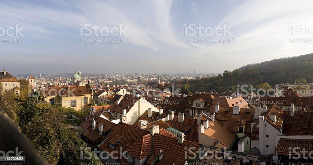 Prague City, panoramic image royalty-free stock photo