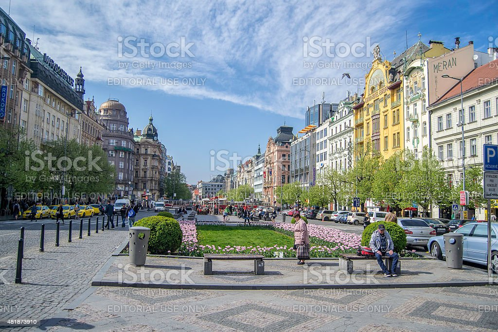 Prague city stock photo