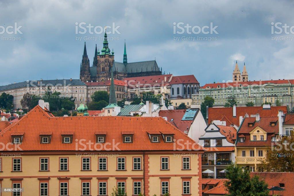 Prague city skyline stock photo