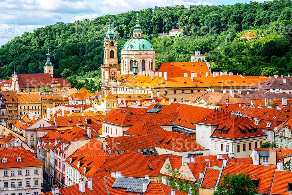 Prague cityscape view stock photo