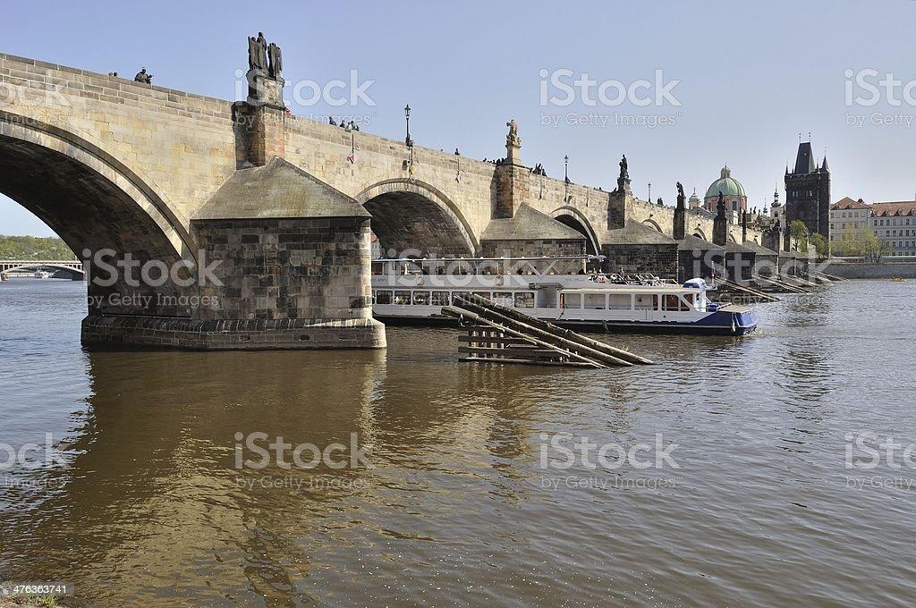 Prague, Republika Czeska-Charles Most przez Wełtawę zbiór zdjęć royalty-free