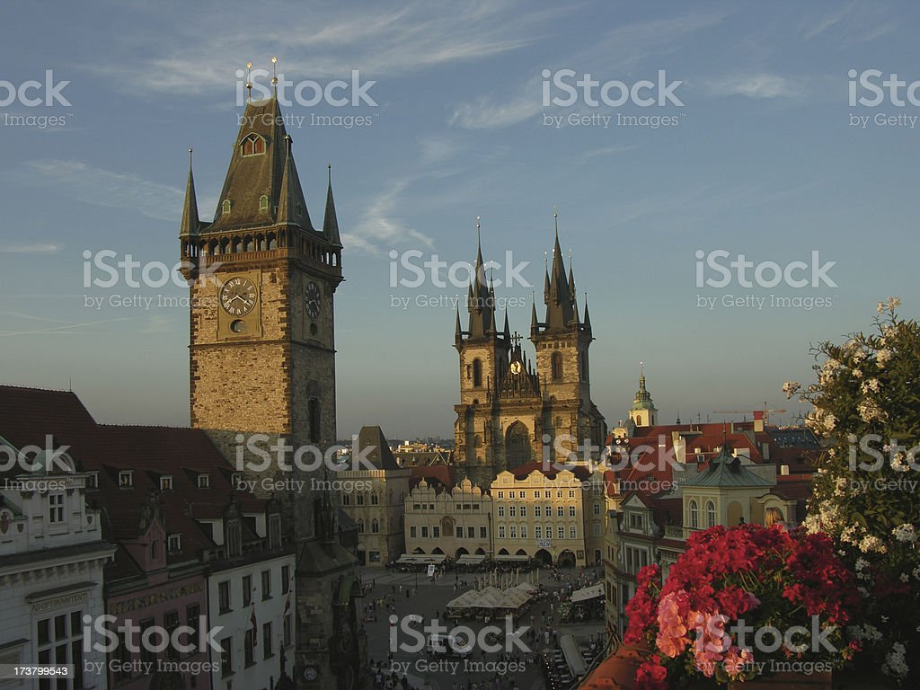 Prague from a terrace royalty-free stock photo