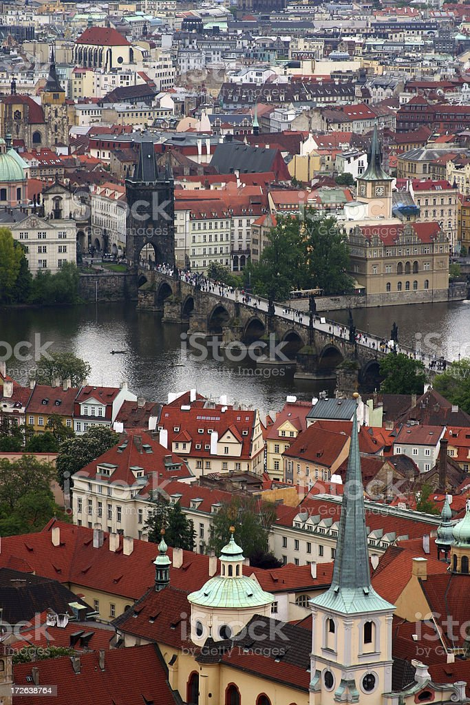 Prague from above royalty-free stock photo