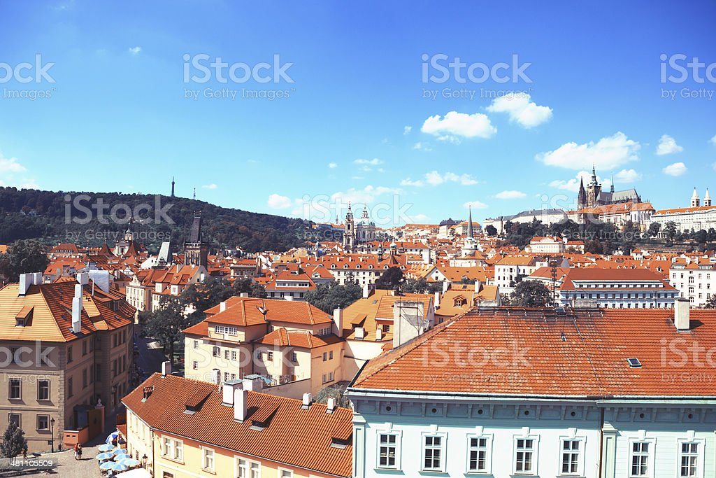 Prague from Above stock photo
