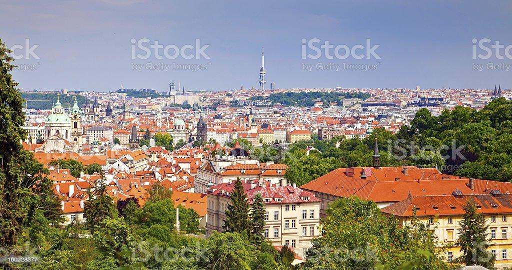Prague From Petrin Hill royalty-free stock photo
