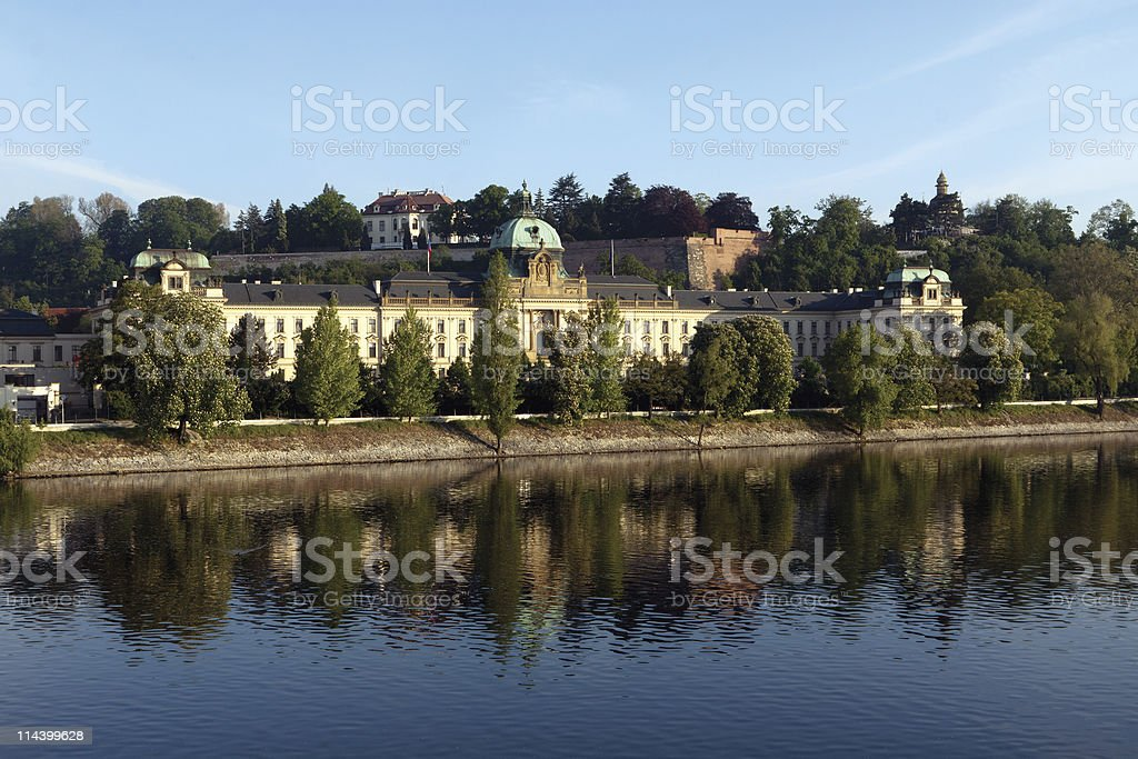 Prague. Government House. royalty-free stock photo