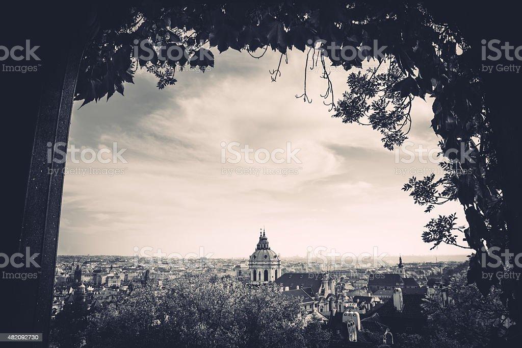 Prague In Black And White stock photo
