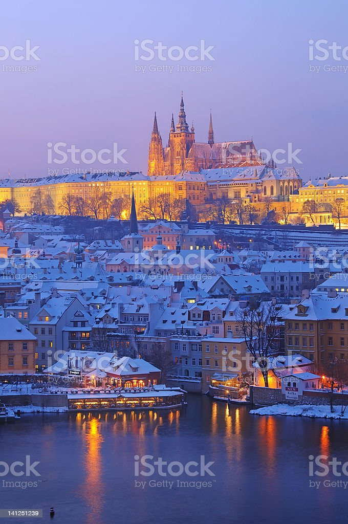 Prague in Evening royalty-free stock photo