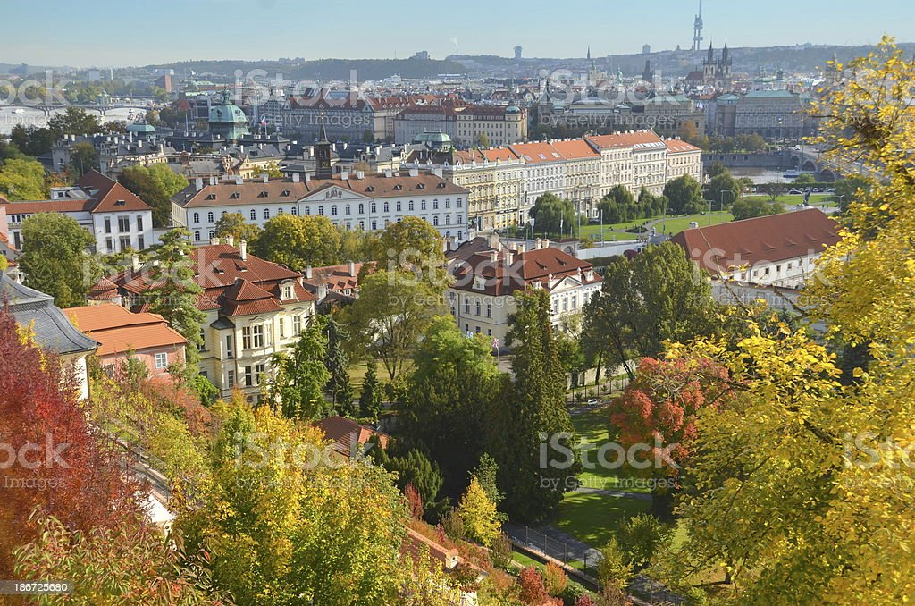 Prague in the Fall stock photo