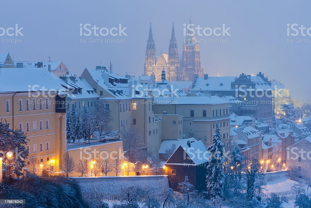 Prague in winter royalty-free stock photo