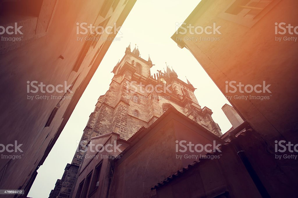 Prague landmarks stock photo