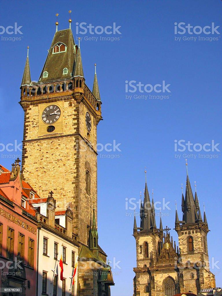 Prague landmarks royalty-free stock photo