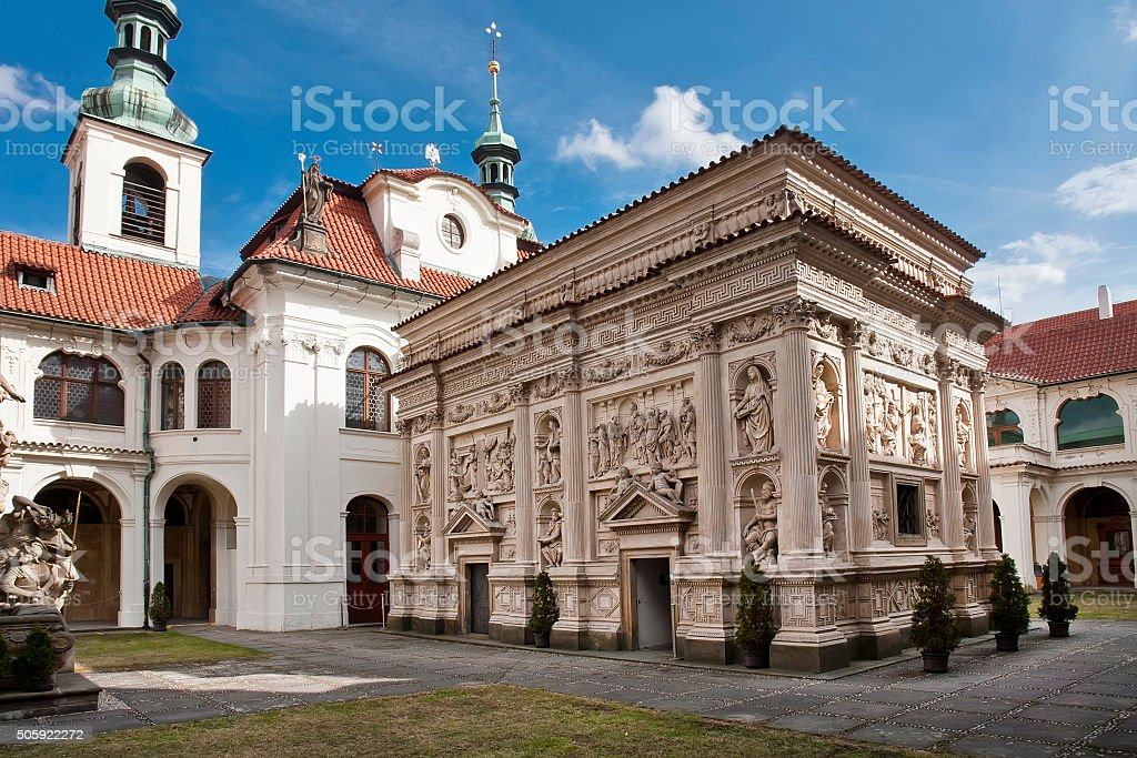 Prague Loreto. The Santa Casa stock photo