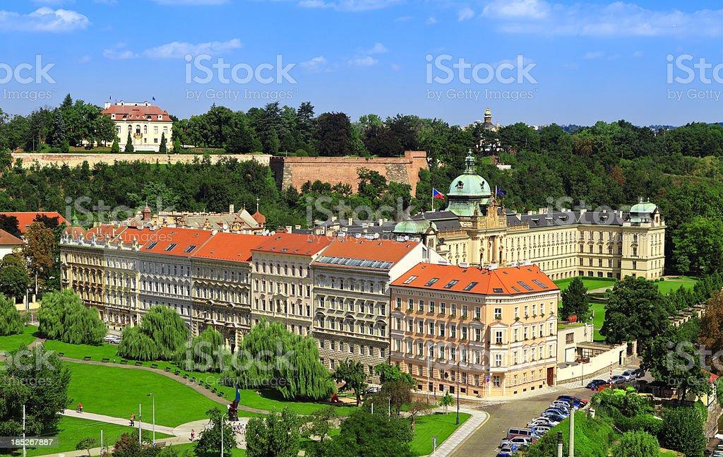 Prague Mala Strana and Strahov Monastery stock photo