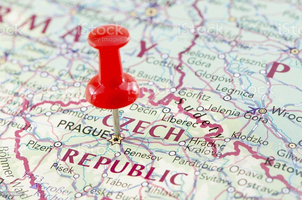 Prague map stock photo