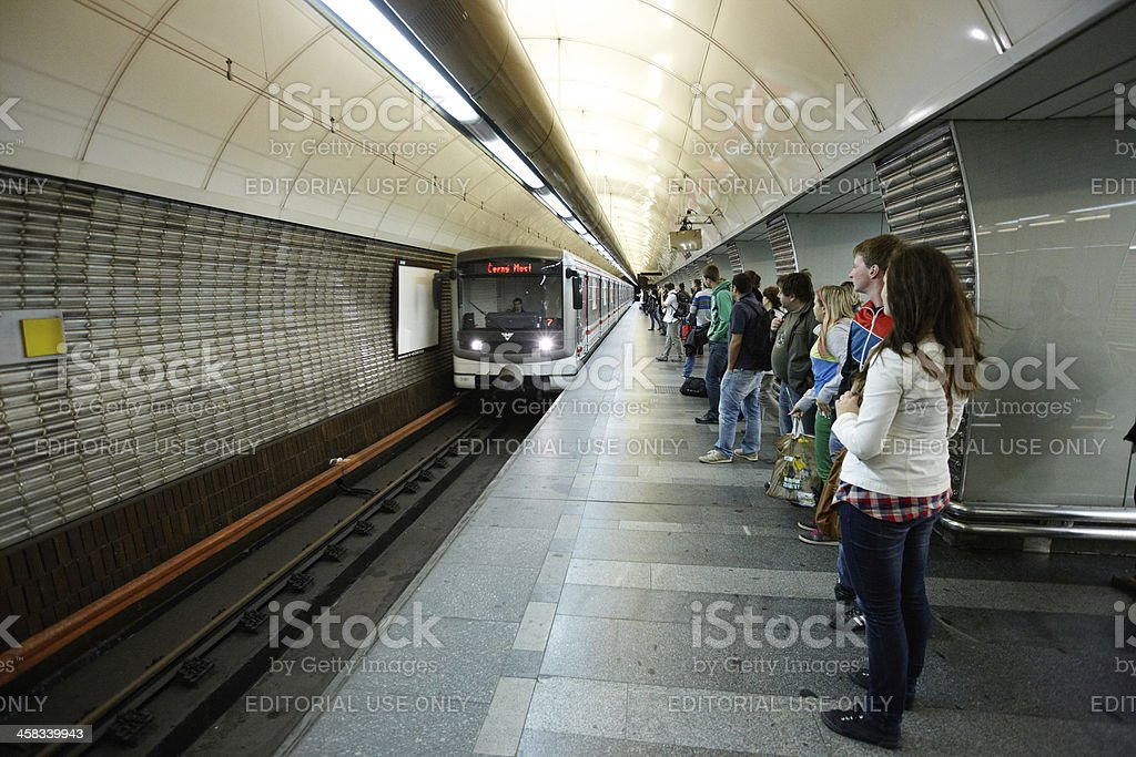 Prague Metro station royalty-free stock photo