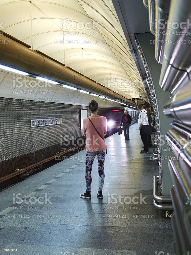 Prague Metro station royalty-free stock photo