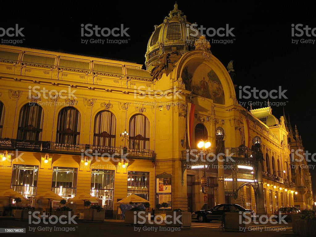 Prague Municipal House royalty-free stock photo