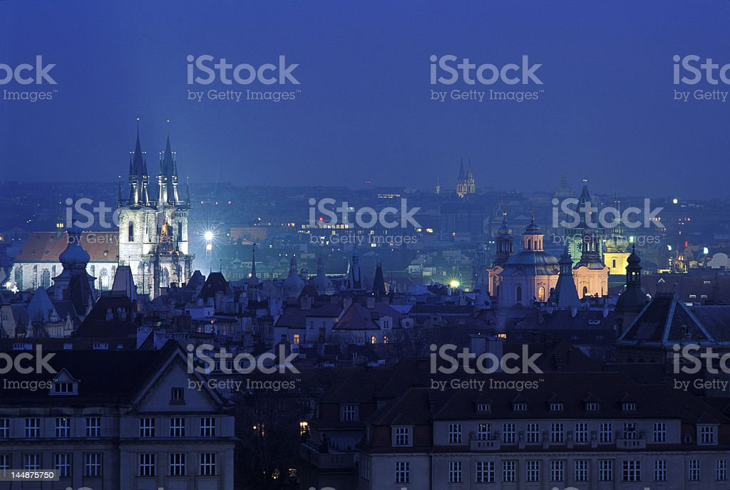 Prague night view royalty-free stock photo