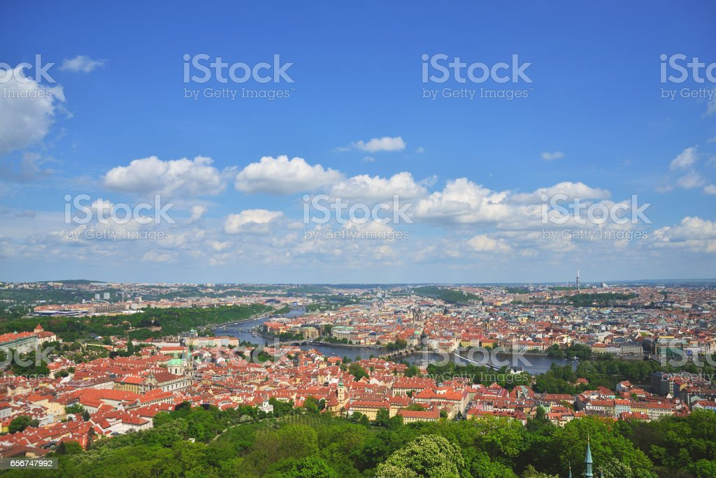 Prague old city stock photo
